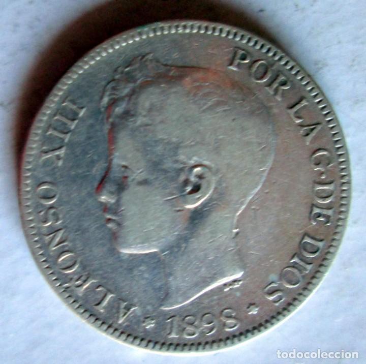 ALFONSO XIII-5 P. 1898 SG-V PLATA (Numismática - España Modernas y Contemporáneas - De Isabel II (1.834) a Alfonso XIII (1.931))