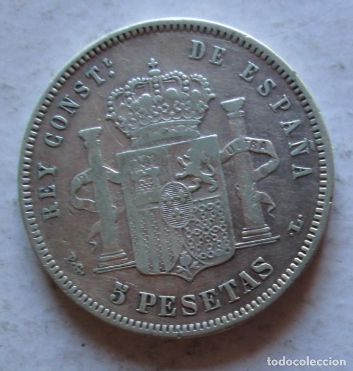 Monedas de España: ALFONSO XIII- 5 P -1893 PG L PLATA - Foto 2 - 221275142
