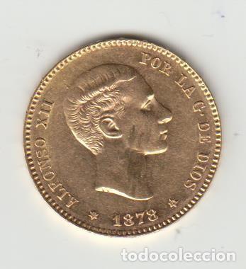 MONEDA 25 PESETAS - ALFONSO XII - 1878 - ORO (ORIGINAL) (Numismática - España Modernas y Contemporáneas - De Isabel II (1.834) a Alfonso XIII (1.931))