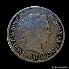Monedas de España: ISABEL II-20 CENTAVOS-MANILA-1868. N014. Lote 221456543