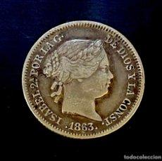 Monedas de España: ISABEL II-1 REAL-SEVILLA-1863. N021. Lote 221459117