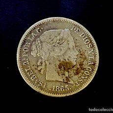 Monedas de España: ISABEL II-10 CÉNTIMOS DE ESCUDO- SEVILLA-1865. N022. Lote 221459575