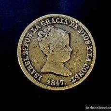 Monedas de España: ISABEL II-1 REAL-MADRID-CL-1847. N025. Lote 221460561