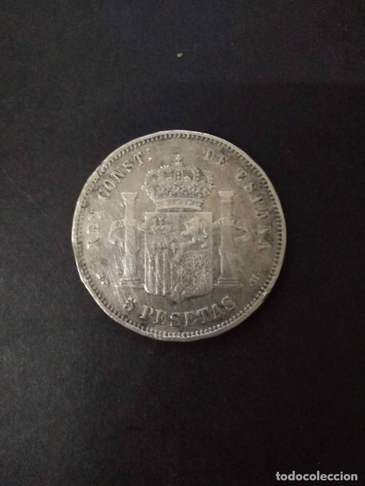 Monedas de España: BONITA MONEDA DE 5 PESETAS PLATA DE ALFONSO XIII. AÑO 1889. - Foto 2 - 221516141