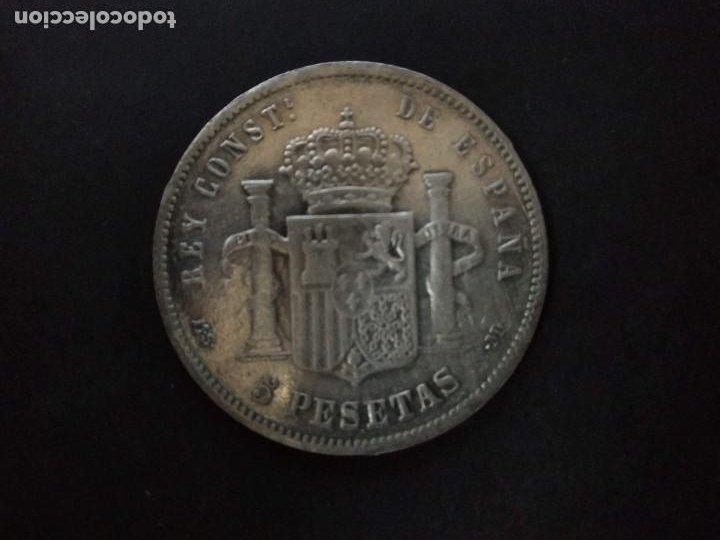 BONITA MONEDA DE 5 PESETAS PLATA DE ALFONSO XIII. AÑO 1888. (Numismática - España Modernas y Contemporáneas - De Isabel II (1.834) a Alfonso XIII (1.931))