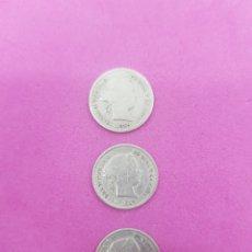 Monedas de España: LOTE MONEDAS DE 1 REAL DE 1859 ,ISABEL II PLATA. Lote 221596551