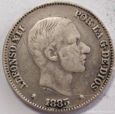 Monedas de España: 50 CENTIMOS DE PESO PLATA ALFONSO XII FILIPINAS 1885. Lote 221640565