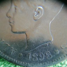 Monedas de España: 5 PESETAS DE PLATA DE 1898 DE ALFONSO XIII A LA EDAD DE 7 AÑOS 25GRAMOS DE PLATA 903. Lote 221653981