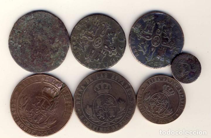 Monedas de España: LOTE DE SIETE MONEDAS DE ISABEL ii.- VER DESCRIPCIÓN.- - Foto 2 - 221683123