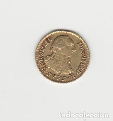 CARLOS III- 1/2 ESCUDO- 1775-MADRID-PJ-ORO (Numismática - España Modernas y Contemporáneas - De Reyes Católicos (1.474) a Fernando VII (1.833))
