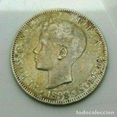 Monedas de España: 5 PESETA 1898 *18*98 MADRID SG V ALFONSO XIII. Lote 221708462
