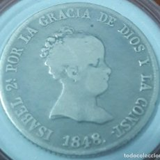 Monedas de España: 4 REALES DE ISABEL II, MADRID 1848 CL (PLATA). Lote 221723527