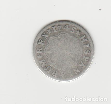 Monedas de España: FELIPE V- 1 REAL- 1745- SEVILLA IPJ - Foto 2 - 221731606