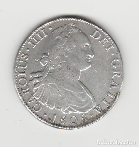 CARLOS IIII/IV- 8 REALES- 1808- MEXICO- TH (Numismática - España Modernas y Contemporáneas - De Reyes Católicos (1.474) a Fernando VII (1.833))