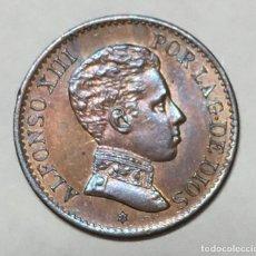 Monedas de España: ANTIGUA MONEDA DE ESPAÑA UN CENTIMO ALFONSO XIII 1906. Lote 221824722