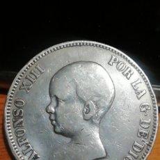 Monedas de España: MONEDA DE 5 PESETAS DE ALFONSO XIII DE PLATA M /P. M. IMPRESIONANTE. Lote 221838918
