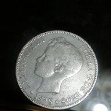 Monedas de España: 5 PESETAS DE 1898 DE PLATA.. IMPRESIONANTE. Lote 221840338