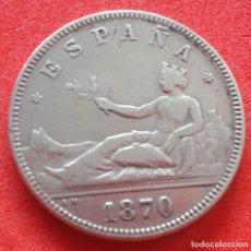 Monedas de España: MONEDA DE 2 PESETAS REPÚBLICA 1870 *74 (PLATA). Lote 221875958