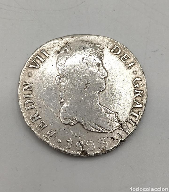 MONEDA DE OCHO REALES FERNANDO VIL. 1823 POTOSI (Numismática - España Modernas y Contemporáneas - De Reyes Católicos (1.474) a Fernando VII (1.833))