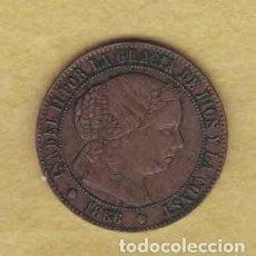 Monedas de España: ISABEL II 1866 MEDIO CÉNTIMOS DE ESCUDO. BARCELONA. M018. Lote 221942110