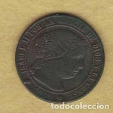 Monedas de España: ISABEL II 1868 MEDIO CÉNTIMOS DE ESCUDO. BARCELONA M020. Lote 221943353