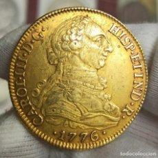 Monedas de España: ESPAÑA 8 ESCUDOS CARLOS III - 1776 CF SEVILLA KM 409.2 ORO. Lote 221946475