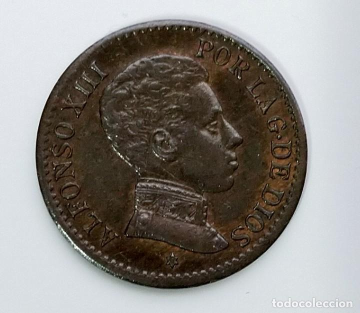 ANTIGUA MONEDA DE ESPAÑA UN CENTIMO ALFONSO XIII 1906 (Numismática - España Modernas y Contemporáneas - De Isabel II (1.834) a Alfonso XIII (1.931))