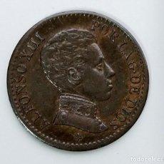 Monedas de España: ANTIGUA MONEDA DE ESPAÑA UN CENTIMO ALFONSO XIII 1906. Lote 222025332