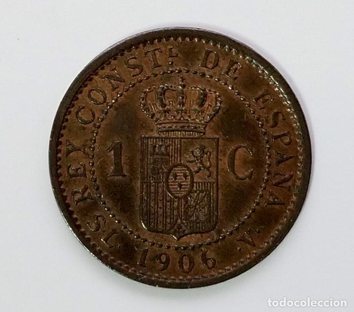 Monedas de España: ANTIGUA MONEDA DE ESPAÑA UN CENTIMO ALFONSO XIII 1906 - Foto 2 - 222025332