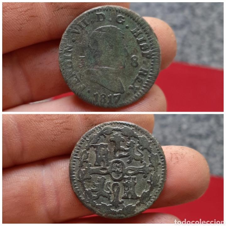 FERNANDO VII 1817 ESCASOS JUBIA (Numismática - España Modernas y Contemporáneas - De Reyes Católicos (1.474) a Fernando VII (1.833))