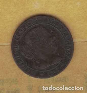 ISABEL II 1867 OM. MEDIO CÉNTIMOS DE ESCUDO. JUBIA. M022 (Numismática - España Modernas y Contemporáneas - De Isabel II (1.834) a Alfonso XIII (1.931))