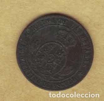 Monedas de España: Isabel II 1867 OM. Medio céntimos de escudo. Jubia. M022 - Foto 2 - 222113338