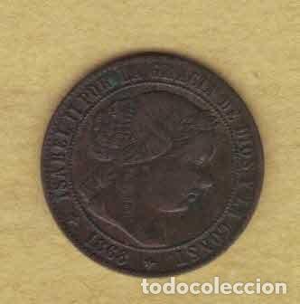 ISABEL II 1868 OM. MEDIO CÉNTIMOS DE ESCUDO. JUBIA.M023 (Numismática - España Modernas y Contemporáneas - De Isabel II (1.834) a Alfonso XIII (1.931))
