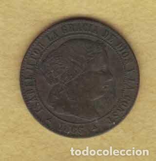 ISABEL II 1866 OM. MEDIO CÉNTIMOS DE ESCUDO. SEGOVIA. M025 (Numismática - España Modernas y Contemporáneas - De Isabel II (1.834) a Alfonso XIII (1.931))