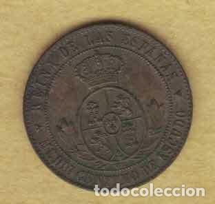 Monedas de España: Isabel II 1866 OM. Medio céntimos de escudo. Segovia. M025 - Foto 2 - 222113918