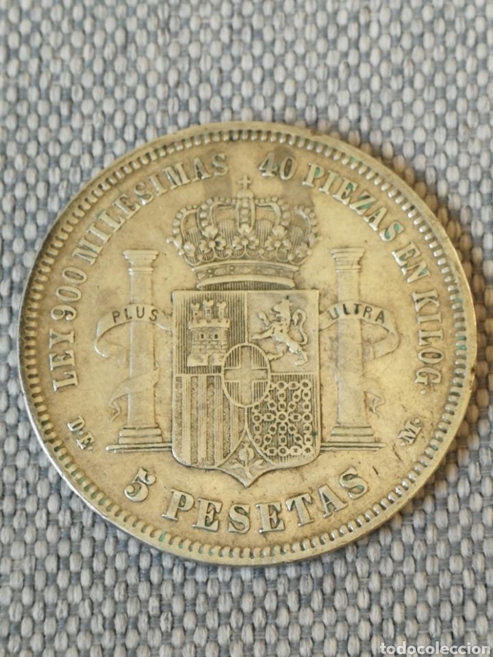 Monedas de España: 5 pesetas Amadeo I 1871 18 - 75 DEM - Foto 3 - 222118380