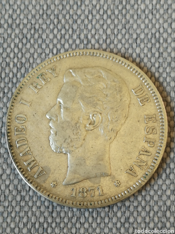 5 PESETAS AMADEO I 1871 18 - 75 DEM (Numismática - España Modernas y Contemporáneas - De Isabel II (1.834) a Alfonso XIII (1.931))