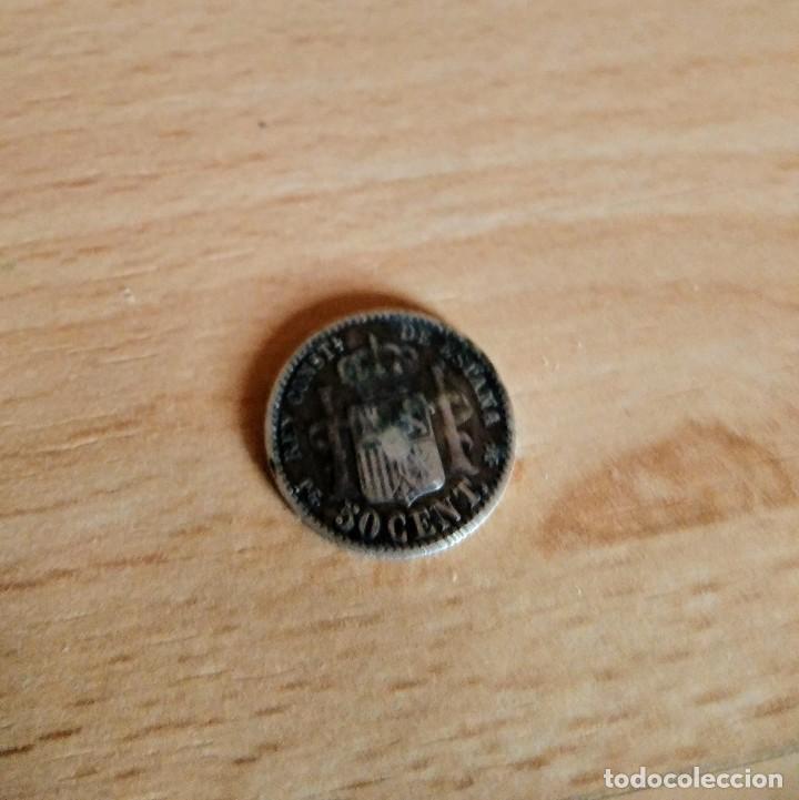 Monedas de España: 50cts Alfonso XIII - Foto 2 - 222138691