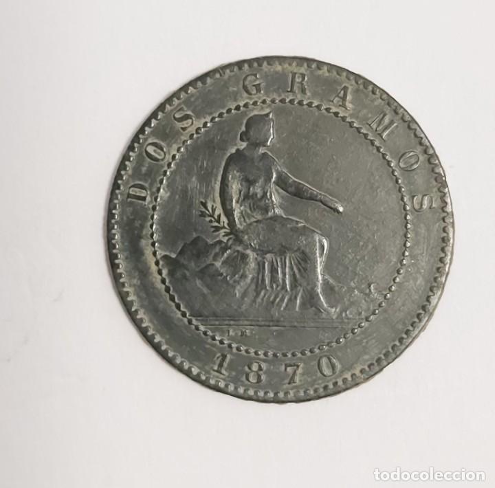 Monedas de España: LOTE 1, 2, 5 Y 10 CÉNTIMOS 1870. VER FOTOS - Foto 2 - 222138956