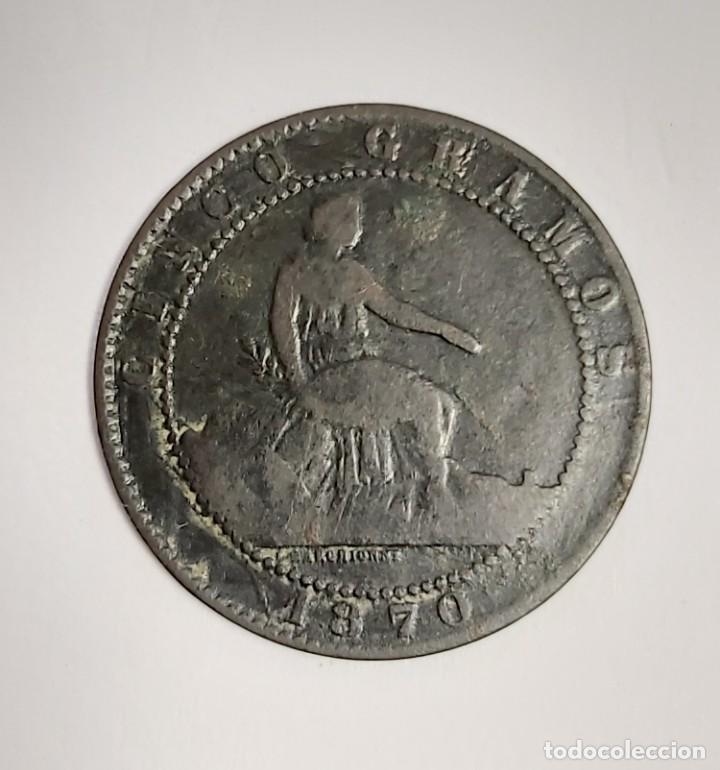 Monedas de España: LOTE 1, 2, 5 Y 10 CÉNTIMOS 1870. VER FOTOS - Foto 4 - 222138956