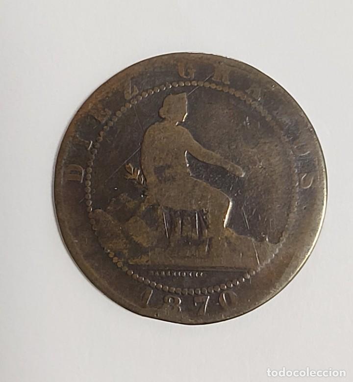Monedas de España: LOTE 1, 2, 5 Y 10 CÉNTIMOS 1870. VER FOTOS - Foto 8 - 222138956