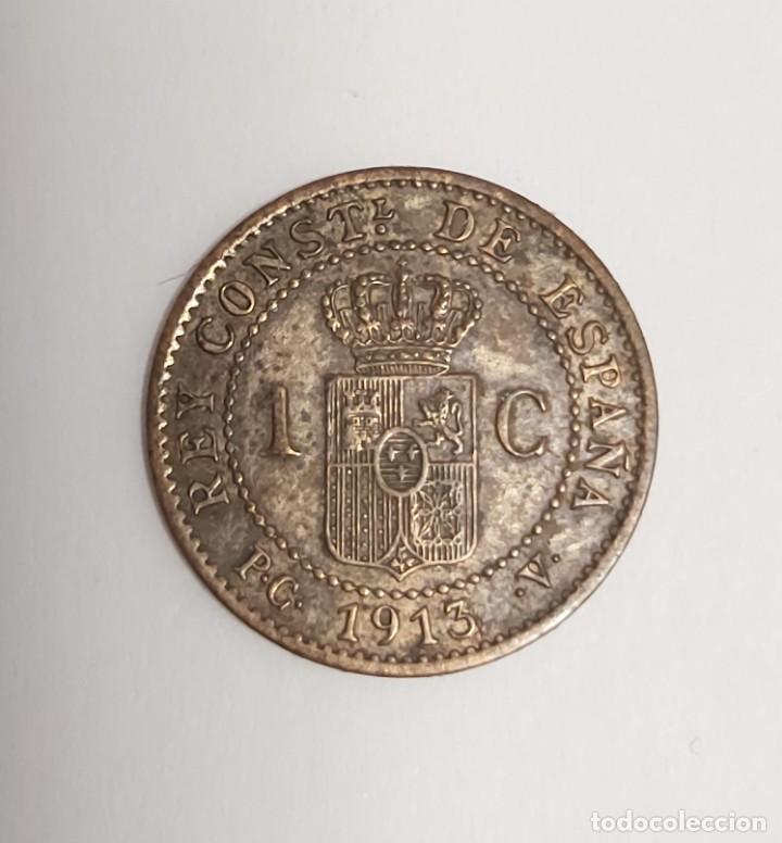 Monedas de España: LOTE 3 MONEDAS DE 1 CÉNTIMO 1906-1912-1913. Estrellas visibles. Ver imágenes - Foto 4 - 222141070