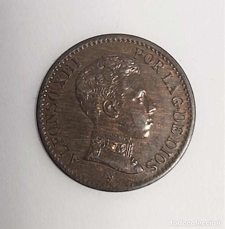 Monedas de España: LOTE 3 MONEDAS DE 1 CÉNTIMO 1906-1912-1913. Estrellas visibles. Ver imágenes - Foto 7 - 222141070