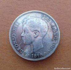 Monedas de España: MONEDA 5 PESETAS PLATA ALFONSO XIII 1896. Lote 222198690