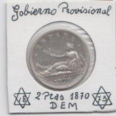 Monedas de España: 2 PESETAS - GOBIERNO PROVISIONAL 1870 *73. Lote 222218370