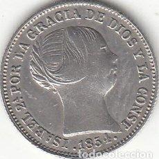 Monedas de España: ISABEL II: 1 REAL 1854 BARCELONA. Lote 222373545