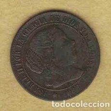 Monedas de España: ISABEL II 1868 OM. MEDIO CÉNTIMOS DE ESCUDO. SEVILLA 029. Lote 222391292