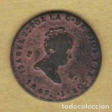 Monedas de España: ISABEL II 1848 2 MARAVEDÍS. JUBIA 038. Lote 222392153