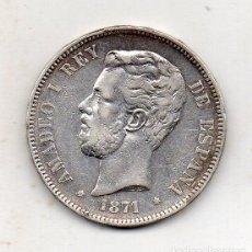 Monedas de España: AMADEO I REY DE ESPAÑA. 5 PESETAS DE PLATA. AÑO 1871 *18 *71. SD - M.. Lote 222430081