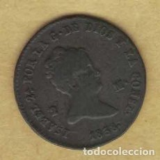Monedas de España: ISABEL II 1838 2 MARAVEDÍS. SEGOVIA 042. Lote 222438398